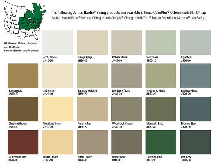 Hardi Plank Siding >> James Hardie Colors | Dependable Home Services